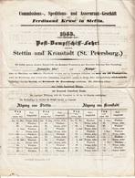 ** DOCUMENTO COMMERCIALE.-STETTIN.-(POLONIA).-1853.-** - Fatture & Documenti Commerciali