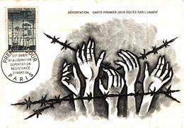 Carte Maximum Premier Jour : 20e Anniv. Libération Déportation - Paris 21/03/1964 - Seconda Guerra Mondiale