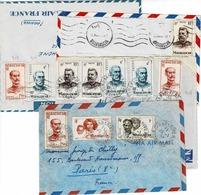 TP Entre N° 308 Et 406 Sur 3 Devants D' Enveloppe Et 1 Enveloppe Pour La France - Madagascar (1889-1960)