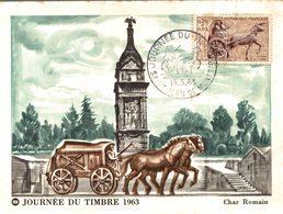 Carte Maximum Premier JourJOURNEE DU TIMBRE 1963 - Timbres