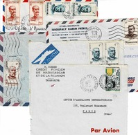 TP Entre N° 314 Et 326 Sur 4 Devants D' Enveloppe Et 1 Enveloppe Pour La France - Madagascar (1889-1960)