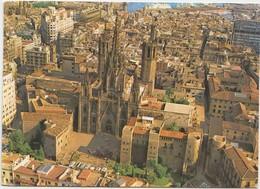 BARCELONA, Catedral Y Barrio Gotico, Vista Aerea, 1978 Used Postcard [22077] - Barcelona