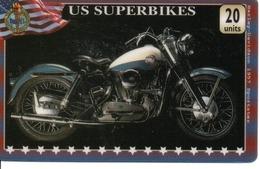 Carte Prépayée US Superbikes Moto Motor Card (G 451) - Motos