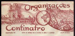 Envelope Comercial C/ Publicidade De Loja CONTINAFRO / Espinho (Aveiro). Vintage Advertising PORTUGAL - Portugal