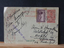 81/600   CP RUANDA   1941 POUR ALLEMAGNE VIA PORTUGAL 3 CENSURE DIFF.; CONGO BELGE, ALLEMAGNE, ANGLAISE? - 1924-44: Brieven