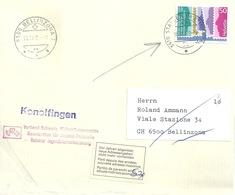 Brief  Stalden Im Emmental - Bellinzona  (Vor Jahren Abgereist)           1988 - Switzerland
