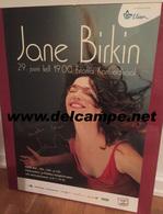POSTER Concert DÉDICACÉ ESTONIE TALLINN Autographe Jane Birkin Affiche ARABESQUE - Posters