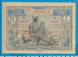Koloniale Lotterij   1945  Congo - Billets De Loterie