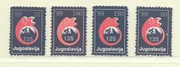YOUGOSLAVIE  ( EU- 224 )  1989  N° YVERT ET TELLIER  N° 157/160    N** - Wohlfahrtsmarken