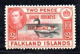 W274 - SOUTH GEORGIA SOUTH ORKNEYS 1944 ,  2 D. Integro  *** MNH. - Georgia Del Sud
