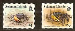 Solomon Salomon Islands 1992 Yvertn° 780-781 *** MNH Cote 13,50 Euro  Crabes Crabs Haute Valeurs - Salomon (Iles 1978-...)