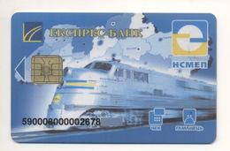 Credit Card UKRAINE Bankcard EXPRESS-BANK Exp To 2006 Train Railway - Tarjetas De Crédito (caducidad Min 10 Años)