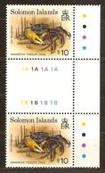 Solomon Salomon Islands 1992 Yvertn° 781 *** MNH Cote 20 Euro Tête-beche Crabes Crabs - Salomon (Iles 1978-...)