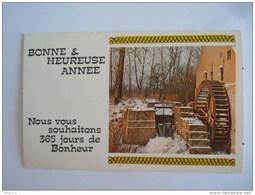 Mignonnette Bonne & Heureuse Année Watermolen Moulin à Eau  Form. 13.5 X 8.5 Cm - Neujahr