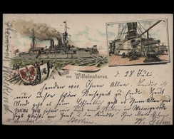 Wilhelmshaven, Kriegsschiff Und Wappen - Allemagne