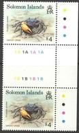 Solomon Salomon Islands 1992 Yvertn° 780 *** MNH Cote 7,00 Euro Tête-beche Crabes Crabs - Salomon (Iles 1978-...)