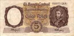 ARGENTINE  5 PESOS  De  1960-62nd  Pick 275  AU/SPL - Argentine