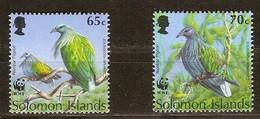 Solomon Salomon Islands 1993 Yvertn° 800-801 *** MNH Cote 2,50 Euro Faune Oiseaux Vogels Birds - Salomon (Iles 1978-...)