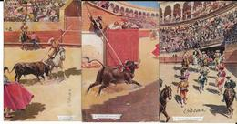 CORRIDA   LOT DE 6 CARTES   ECRITES  1906 - 1907 - Corrida