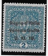Italie Vénétie Julienne N°15 - Neuf * Avec Charnière - TB - 8. WW I Occupation