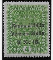 Italie Vénétie Julienne N°17 - Neuf * Avec Charnière - TB - 8. WW I Occupation
