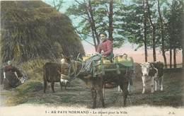 AU PAYS NORMAND - Le Départ Pour La Ville, Avec Un âne. - Anes
