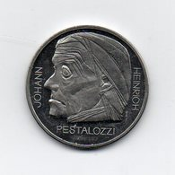 Svizzera - 1977 - 5 Franchi Commemorativi - JOHANN HEINRICH PESTALOZZI - (MW1789) - Svizzera