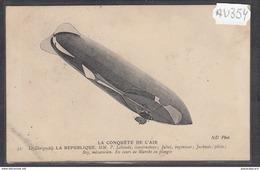 1915 AV354 AK PC CPA LE DIRIGEABLE LA REPUBLIQUE NC TTB ( - Dirigibili