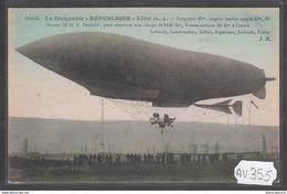 1916 AV355 AK PC CPA LE DIRIGEABLE LA REPUBLIQUE NC TTB - Dirigibili