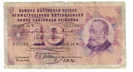 Switzerland 10 Francs 18/12/1958 - Suisse