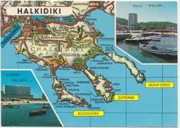 HALKIDIKI, Athos Palace Hotel, Greece, Used Postcard [22091] - Greece