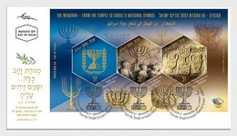 Israel - Postfris / MNH - FDC Sheet Menorah 2018 - Israël