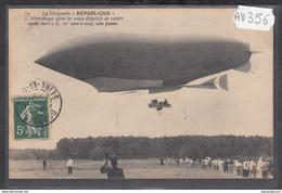 1917 AV356 AK PC CPA LE DIRIGEABLE REPUBLIQUE C TTB - Dirigibili