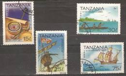 Tanzania - 1992 Discovery Of America Used   SG 1346-8 & 1350 - Tanzania (1964-...)