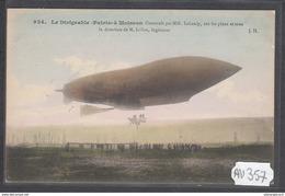 1918 AV357 AK PC CPA LE DIRIGEABLE PATRIE A MOISSON NC TTB - Dirigibili