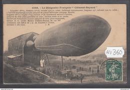 1921 AV360 AK PC CPA LE DIRIGEABLE FRANCAIS CLEMENT BAYARD C TTB - Dirigibili