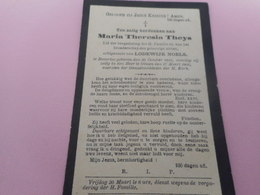 D.P.-MARIA-TH.THEYS °BEVERLOO 20-10-1844+OLMEN 17-3-1900 - Religion & Esotérisme