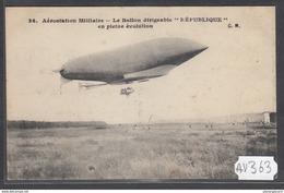 1924 AV363 AK PC CPA LE BALLON DIRIGEABLE REPUBLIQUE N C TTB - Dirigibili