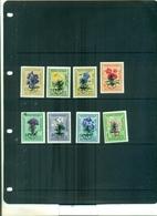 MONGOLIA ERADICATION DU PALUDISME 8 VAL SURCHARGES NEUFS A PARTIR DE 0.60 EUROS - Insectes