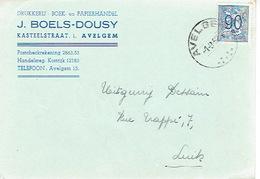 PK Publicitaire AVELGEM 1952 - J. BOELS-DOUSY - Drukkerij - Boek- En Papierhandel - Avelgem