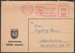 Nottuln Brief Freistempel 1957 Martinimarkt Nach Appelhülsen   (22688 - Briefmarken