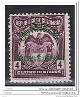 COLOMBIA:  1925  SOPRASTAMPATO  -  4 C. VIOLETTO  S.G.  -  YV/TELL. 257 - Colombia