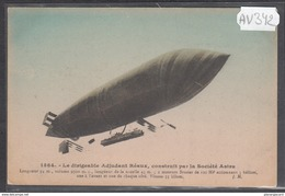 1903 AV342 AK PC CPA LE DIRIGEABLE ADJUDANT REAUX NC TTB - Dirigibili