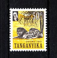 Tanganika  -  1961. Leoni. Lions. MNH - Felini
