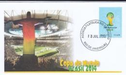 Brazil FDC 2014 Brazil FIFA World Cup Football (G95-36) - Fußball-Weltmeisterschaft