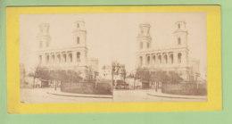 Eglise Saint Sulpice, Paris, Vers 1870. Photo Stéréoscopique . 2 Scans. - Photos Stéréoscopiques