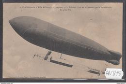 1904 AV343 AK PC CPA LE DIRIGEABLE VILLE DE NANCY N C TTB - Dirigibili