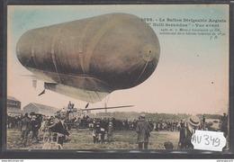 1910 AV349 AK PC CPA LE BALLON DIRIGEABLE ANGLAIS NULLI SECCUNDUS NC TTB - Dirigibili