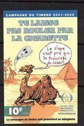 """Erinnophilie: Vignette 12 X 8 """"Te Laisse Pas Rouler Par La Cigarette """" Jolie Pièce  2001-2002 - Commemorative Labels"""