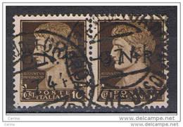 R.S.I.:  1944  SOPRASTAMPA  VR  -  10 C. BRUNO  COPPIA  US. -  SASS. 471 - 1944-45 République Sociale